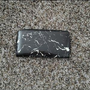 Handbags - Black marble wallet
